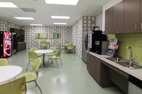 Break room ideas houston s legacy community health for Office lunch room design ideas