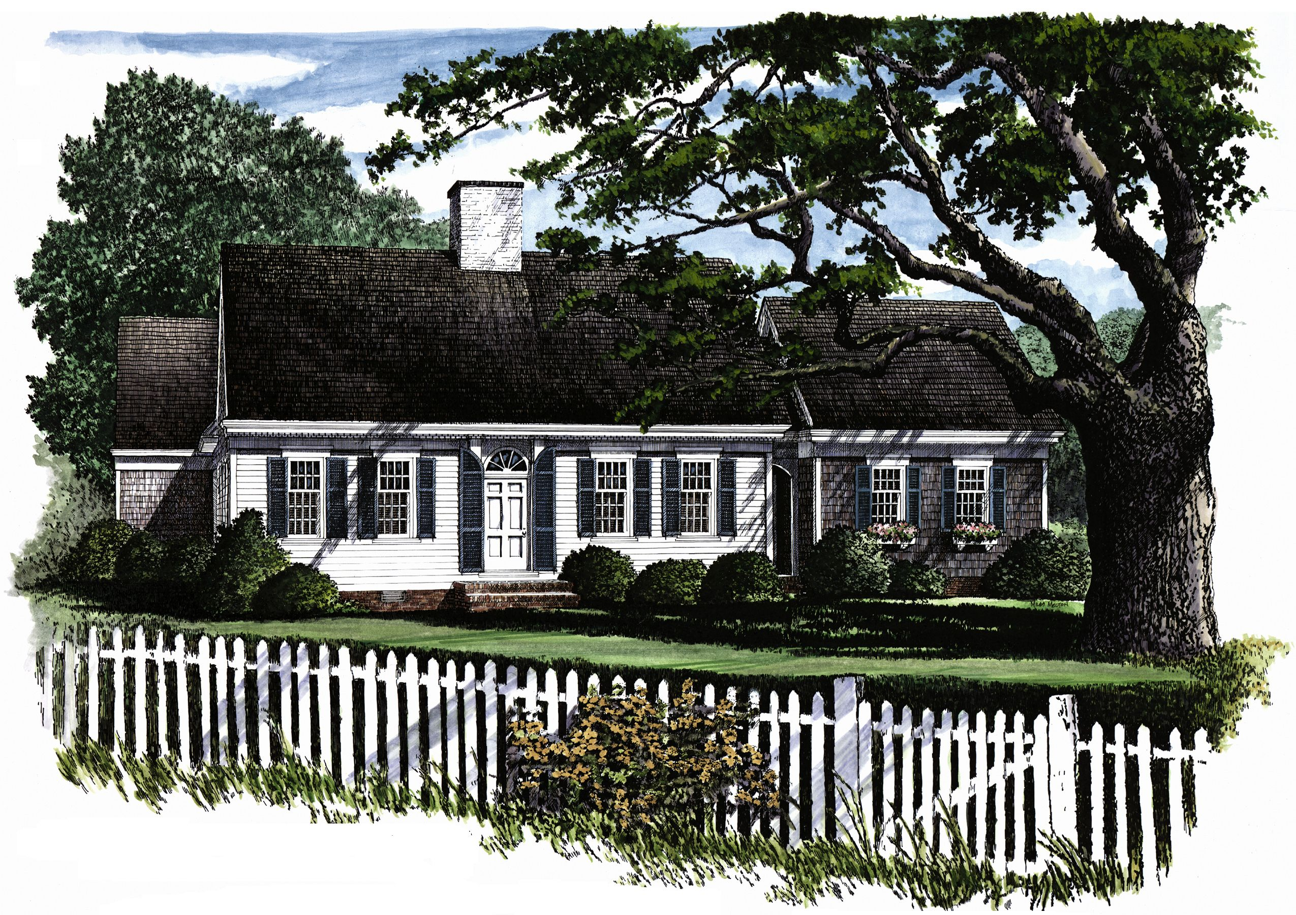 Plan 32429wp Cozy Cape Cod Home Plan Cape Cod House Plans Cape Cod Style House Colonial House Plans
