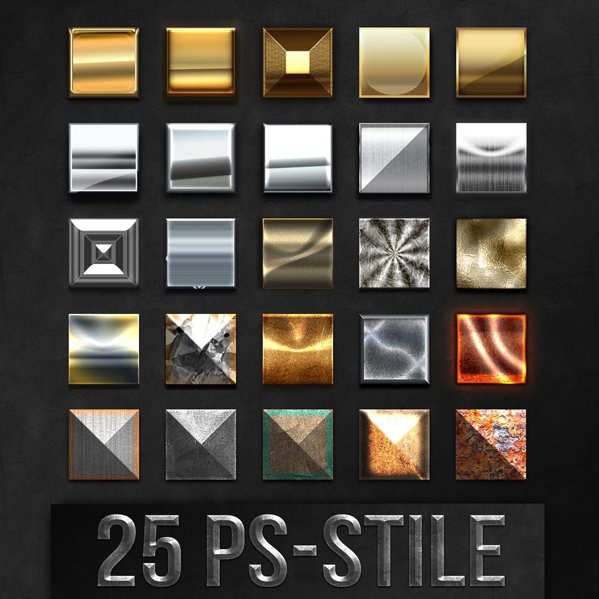 Photoshop Stile Fur Markante Metalleffekte Download Photoshop Shops Bilder Effekte