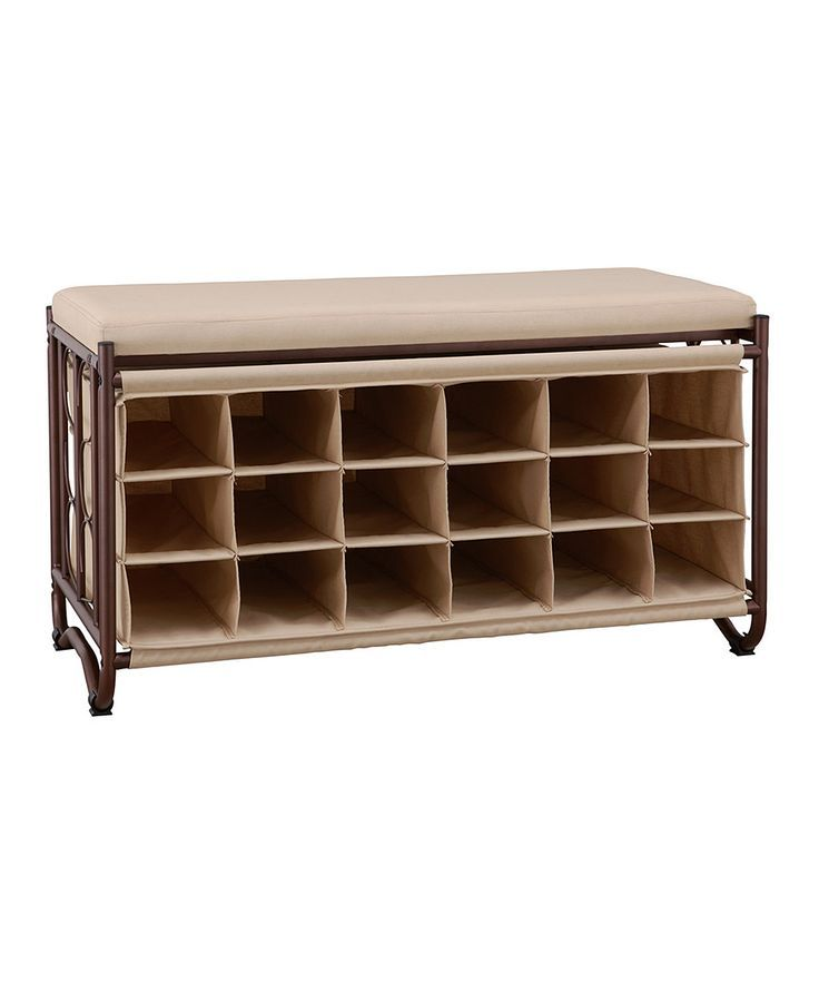 Organize it All's Bench with Shoe Cubbies features an oil rubbed bronze steel tube frame that is sturdy yet stylish enough to fit in many different decors. Description from cozydays.com. I searched for this on bing.com/images