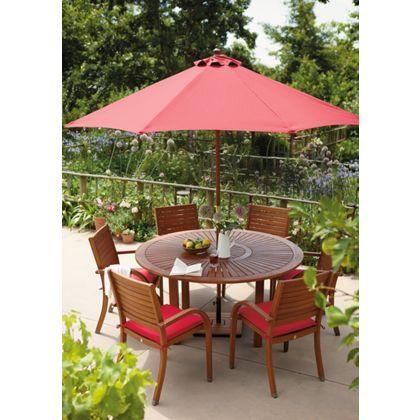 peru 6 seater round dressed garden furniture set