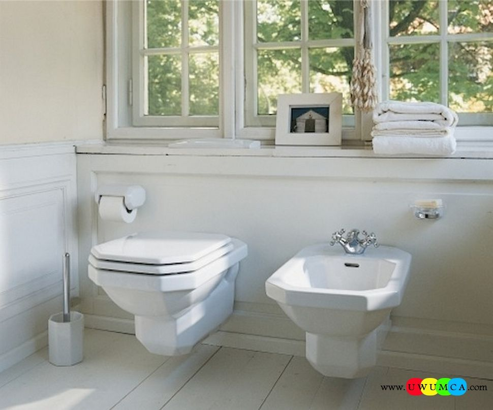 Bathroom:1930 Series Wall Mount Toilet And Bidet Wall Hung ...
