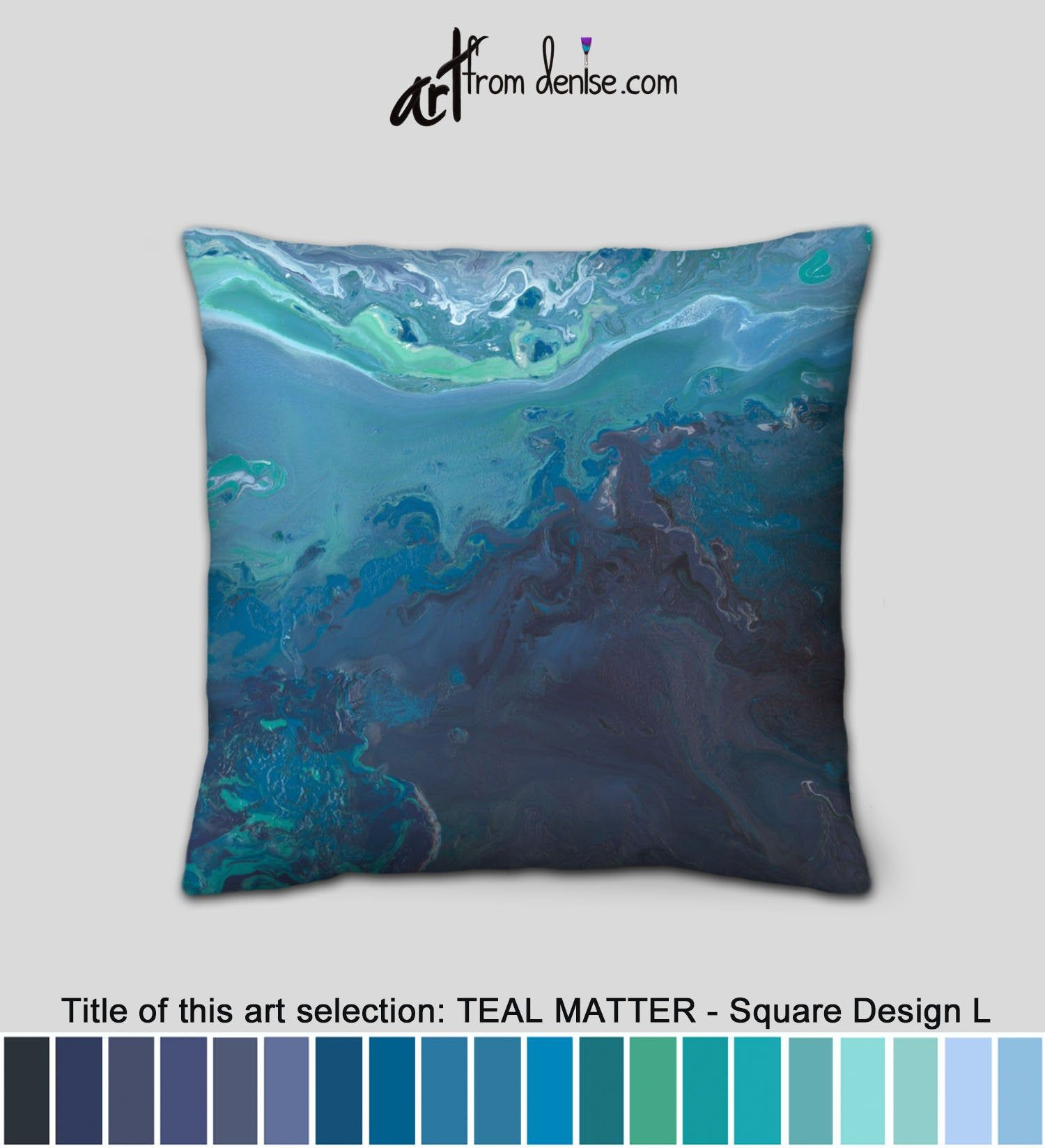 Gray Navy Teal Blue Small Decorative Pillow For Bed Decor Big Couch Pillows Set Or Oversized Throw Pillows For Outside Navy Blue Throw Pillows Blue Pillows Decorative Bed Pillows Decorative