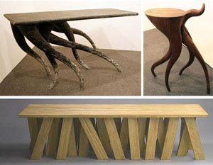 abstract table leg ideas unusual