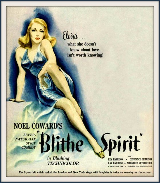 Blithe spirit noel coward constance cummings 1945 movie poster print blithe spirit noel coward constance cummings 1945 by bloominluvly 1000 fandeluxe Image collections
