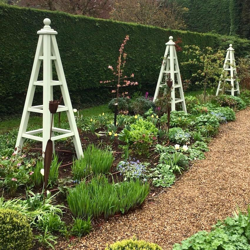 Wooden Garden Obelisk & Planters Any Size Painted Any