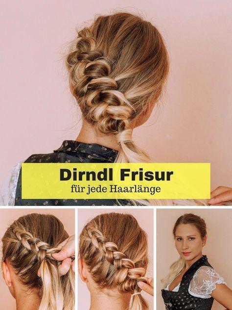 Dirndl Frisur fürs Oktoberfest - Anleitung für jede Haarlänge #hairlengths