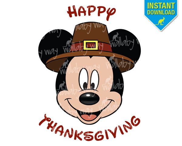 best mickey mouse thanksgiving clipart 22500 clipartion com rh pinterest com Thanksgiving Clip Art Happy Thanksgiving Clip Art