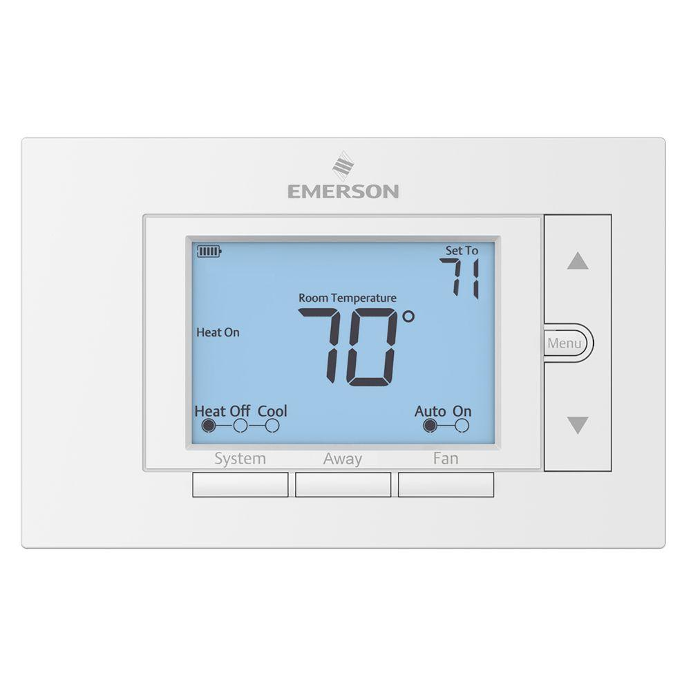 Emerson Non Programmable Digital Thermostat Unp310 Heat Pump System Home Thermostat Baseboard Heating