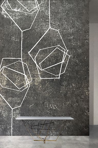 Rose White Wire LED Wallpaper by Meystyle. Conductivity Collection ...