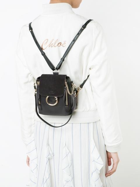 39fa48854 Chloé mini Faye backpack | fancy things | Backpack outfit, Chloe bag ...