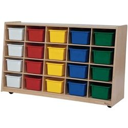 Awesome Wood Designs Tip Me Not 20 Tray Cubby Storage Unit For Sale From Classroom