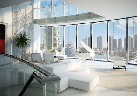 Design for a revolving, sustainable, 30-storey apartment tower in Dubai.