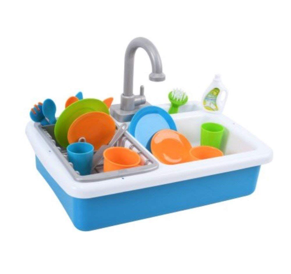 Amazon Com Spark Kitchen Sink And Spark Create Imagine Microwave Set Red And Blue Toy Bundle Toys Games Sink Busy Toddler Playset