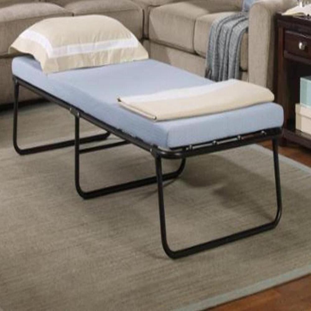 - Details About Folding Bed Memory Foam Mattress Fold Away Guest