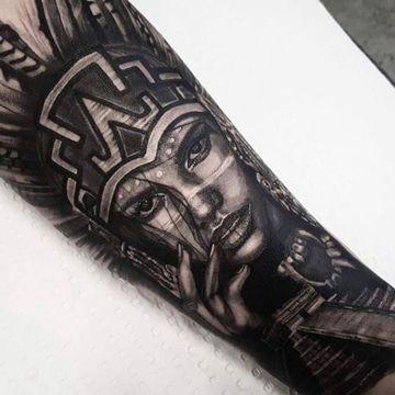 Tatuajes Aztecas Para Mujeres De Mujeres Tatuajes Mayas