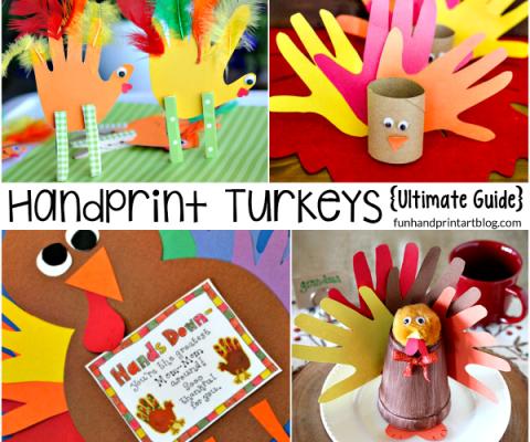 So many Ways to Create Handprint Turkey Crafts!