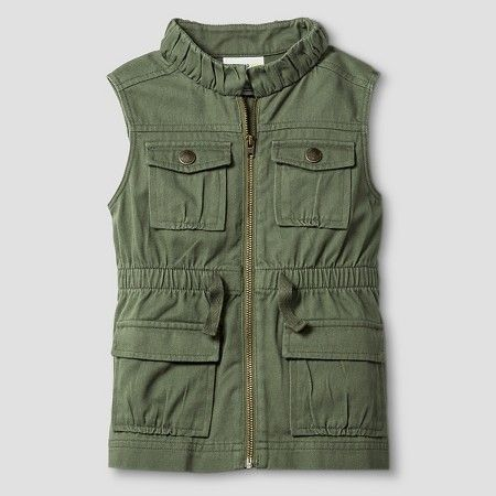 82f6e3546 Toddler Girls' Fashion Vest - Green - Genuine Kids from Oshkosh™ : Target