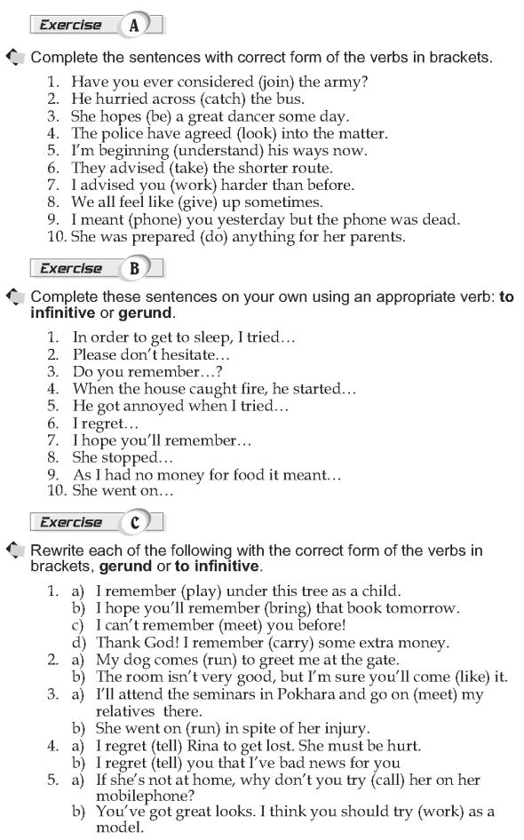 Grade 10 Grammar Lesson 22 Verbs Followed By Infinitives