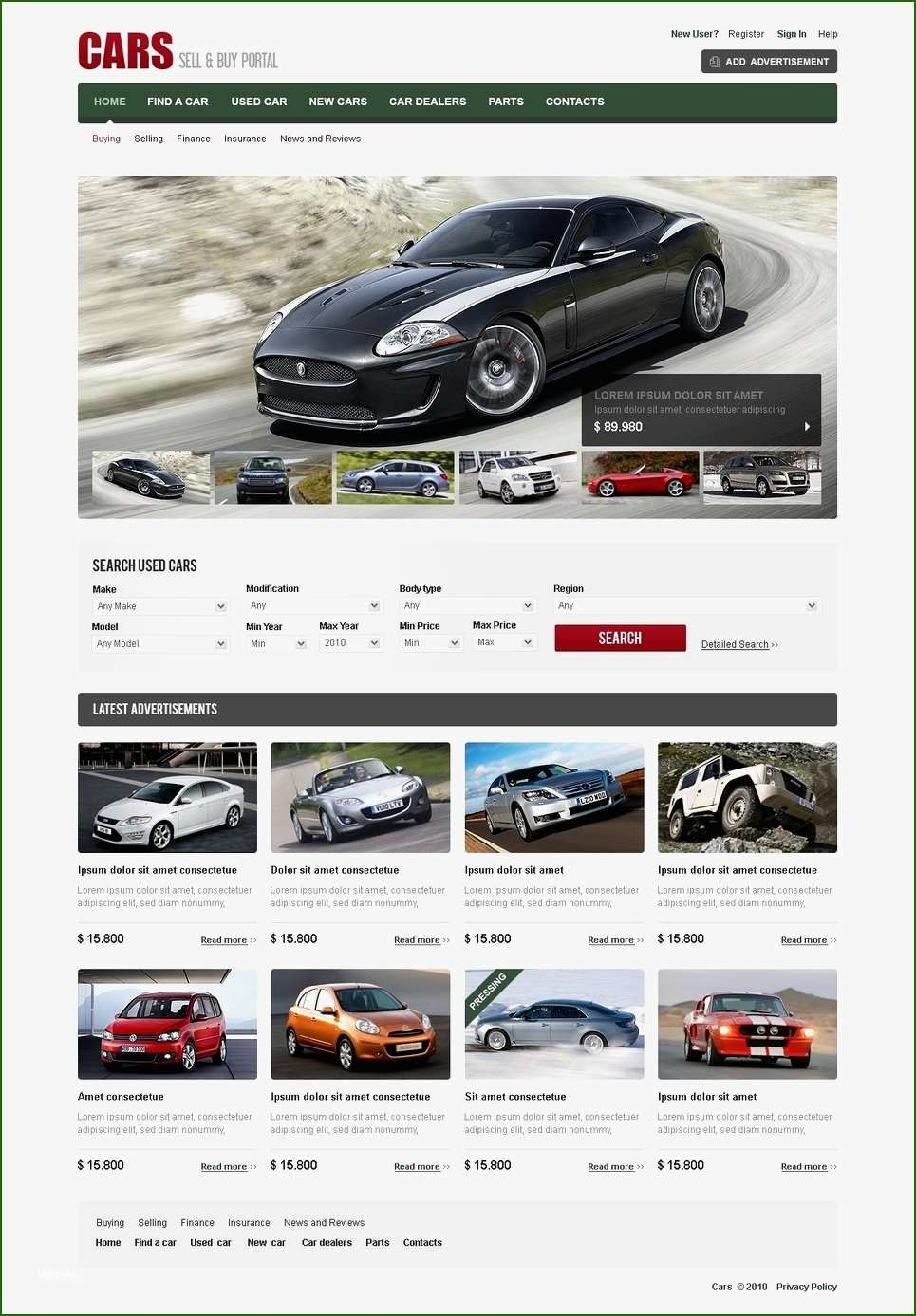 18 Terrific Car Dealer Website Template That Will Wow You Used Cars Movie Car Dealer Car Flash Car dealer website template free