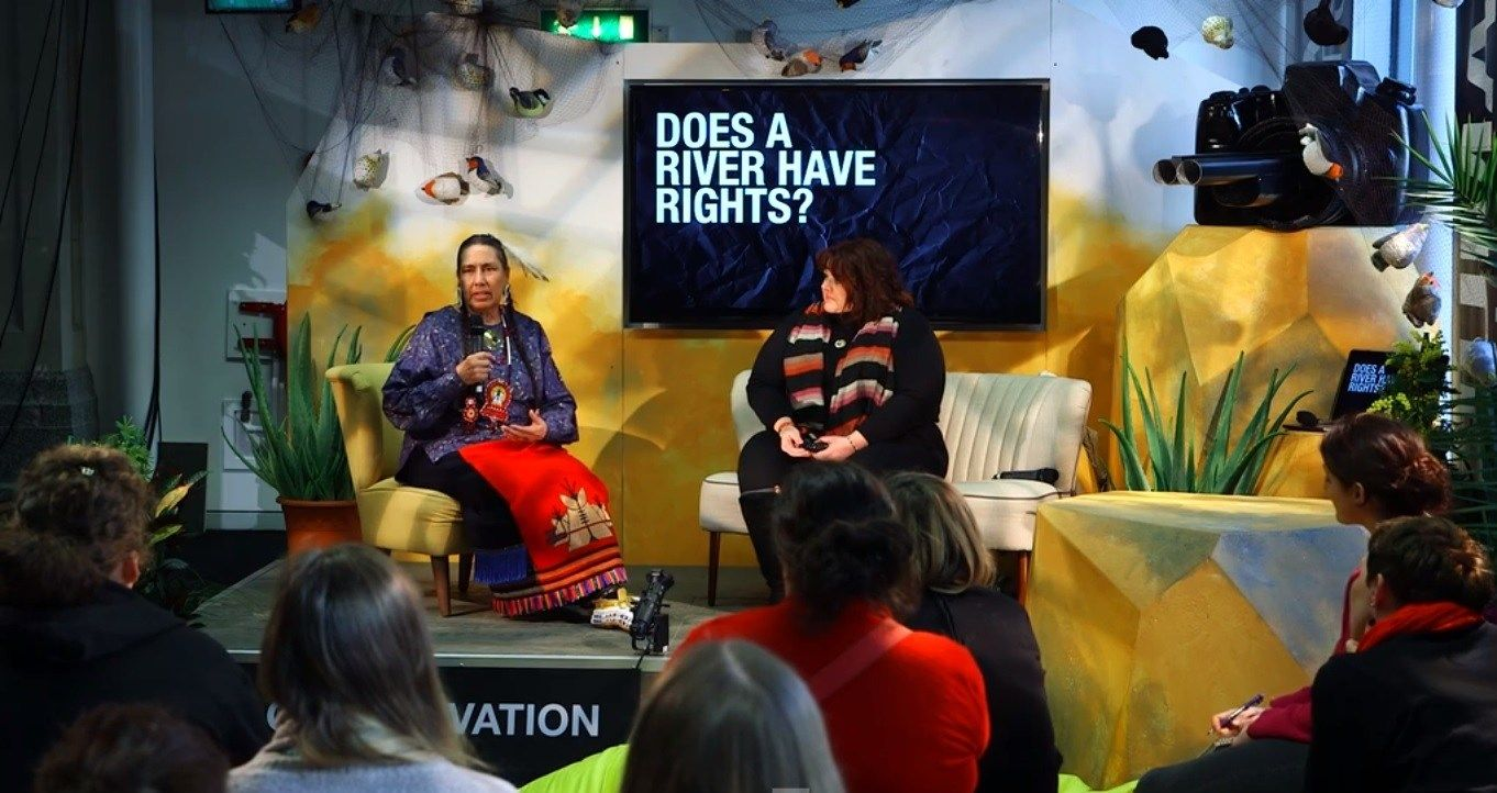 Via the Lush Summit 2018 Answering the question, is a talk by Shannon Biggs from Movement Rights, on indigenous and nature's rights.