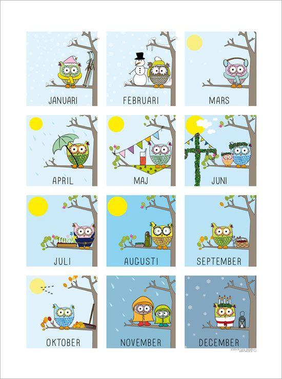 Vad heter egentligenårets alla månader och i vilken ordning kommer de? Här har du en pedagogisk