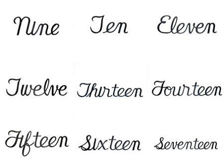 Script House Numbers House Numbers Cursive Numbers Cursive