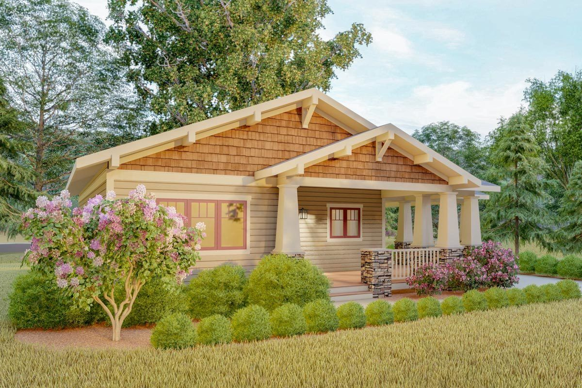 Plan 18300be Delightful 2 Bed Space Saving Bungalow House Plan In 2020 Craftsman Bungalow House Plans Bungalow Style House Plans Cottage Style House Plans