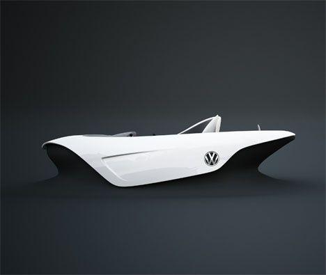 Comfortable Car Interior Design of VW Einsplus Automobile