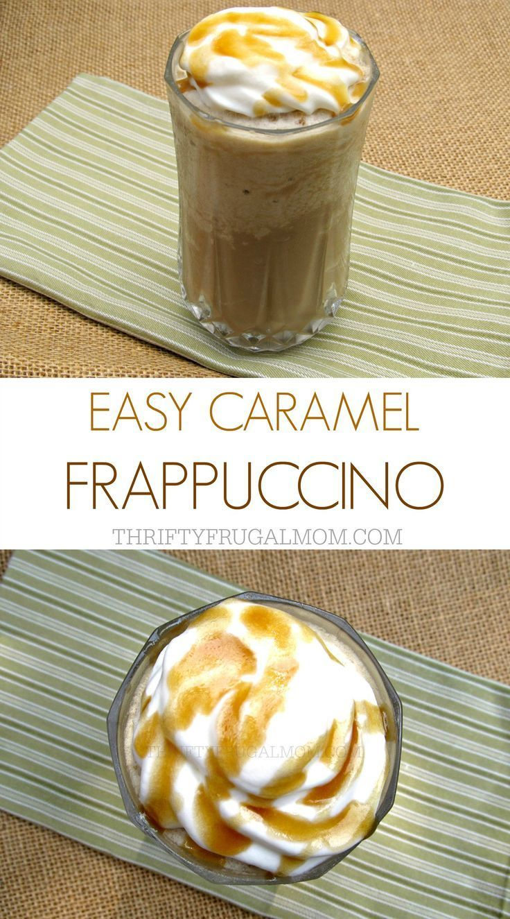 Homemade Caramel Frappe Make your own homemade caramel frappuccino with this delicious, easy recipe. Not only will it save you money, it's also a great way to use up leftover coffee!Make your own homemade caramel frappuccino with this delicious, easy recipe. Not only will it save you money, it's also a great way to use up leftover coffee!