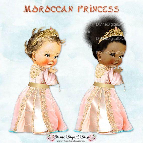 Moroccan Princess Gold Tiara Peach Gown | Vintage Baby Girl | 3 ...