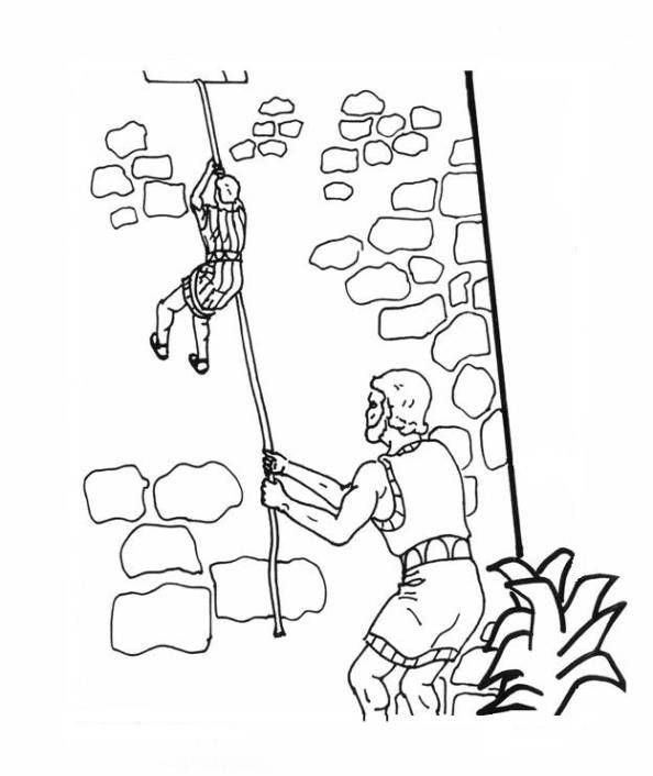 Rahab And The Two Spies Sunday School Coloring Pages Bible