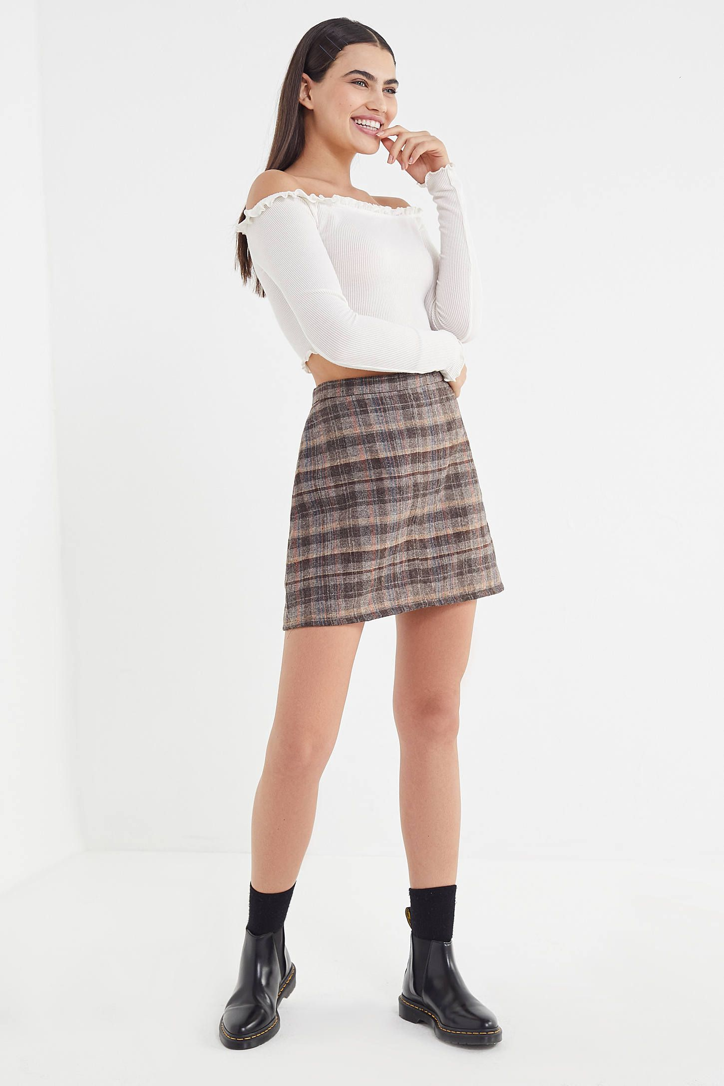 1040a513ac Vintage Plaid A-Line Mini Skirt in 2019 | Lily 2/4 | Mini skirts, A ...