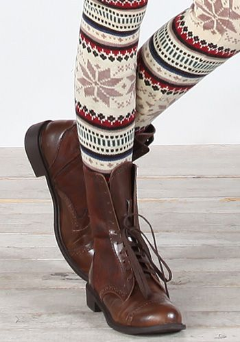 not the shoes... but i really want some funky leggings to wear under winter dresses