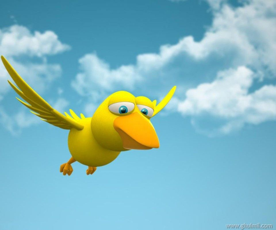 Beautiful 3d Hd Flying Duck Wallpaper For Desktops Cartoon Wallpaper Cartoon Birds Free Cartoons
