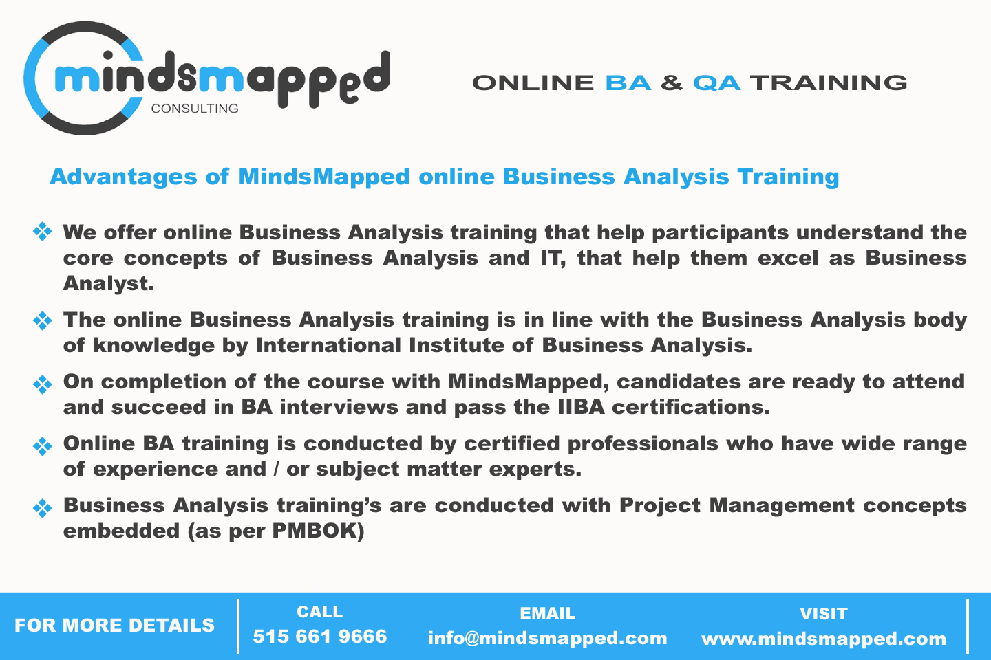 Advantages Of Mindsmapped Online Business Analysis Training Http