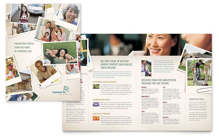 Life Insurance Company Brochure Template Design by StockLayouts - medical brochures templates