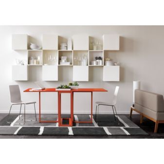 Functional dining/console for small spaces.