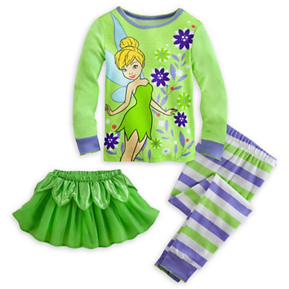 Disney Store Tinkerbell Deluxe Pajamas W/ Tutu   Excercise   Pinterest