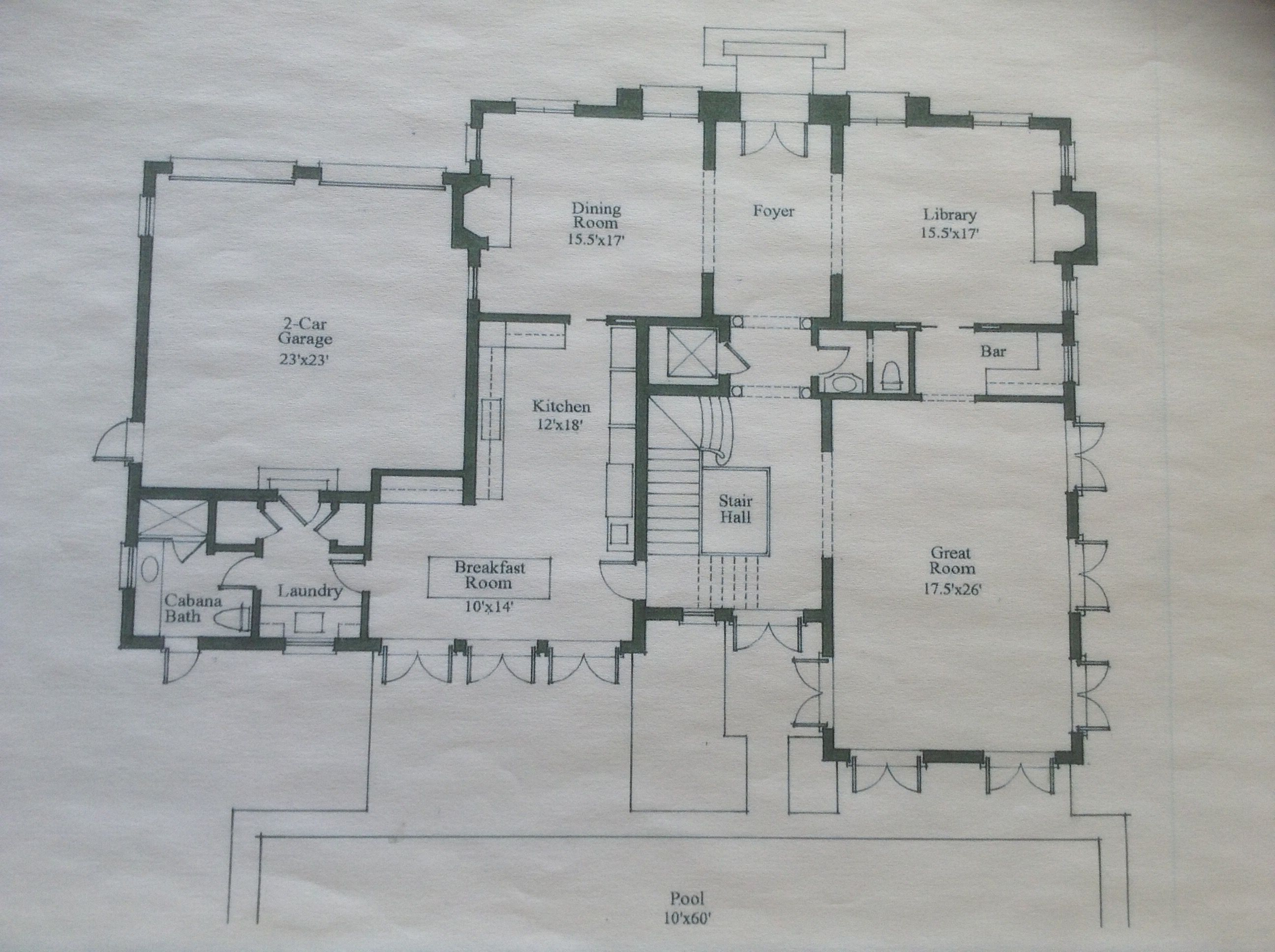Palm Beach 2 Storey Villa Main Level Modern House Plans Classic Architecture House Floor Plans