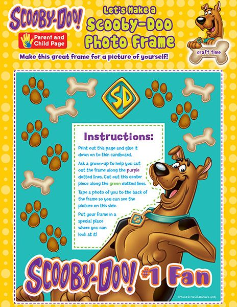 Scoobydoo Photo Frame Craft Diy Scooby Doo It Yourself Projects