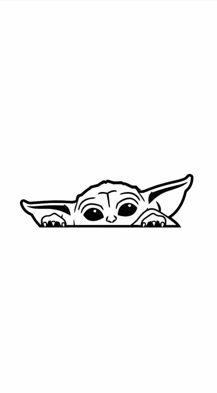 Free Baby Yoda Svg : Peeking, Vinyl, Decal, Mercari, Cricut, Stencils,, Projects, Vinyl,