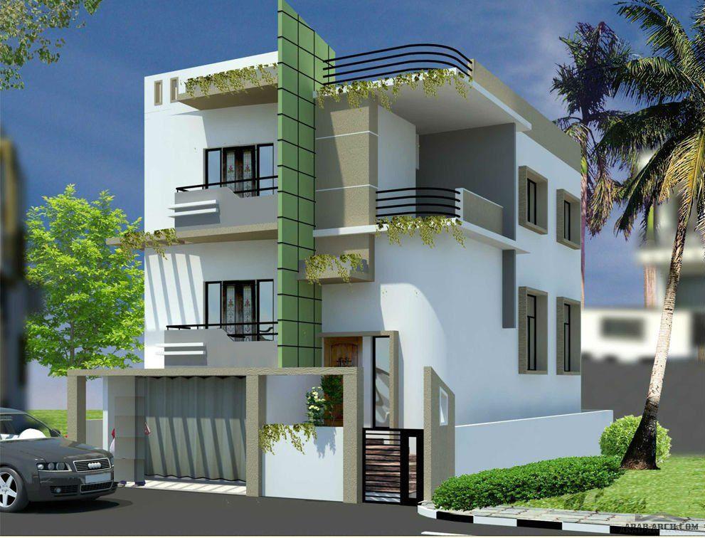 بيت مودرن صغير المساحه طابقين المخطط House Styles Modern House House