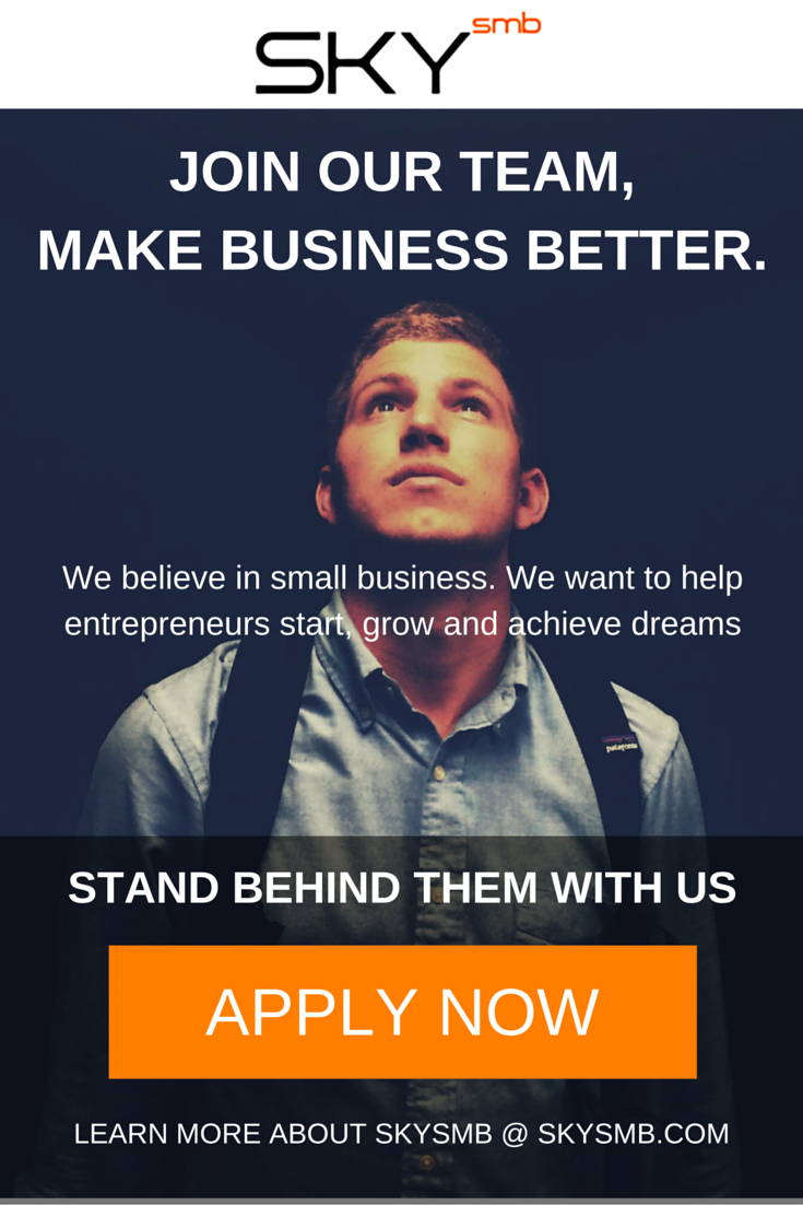 SKYsmb provides accounting and sound advice for small businesses to help them reach their goals. We're growing FAST and WE WANT YOU ON OUR TEAM!  Apply: http://skysmb.com/teams #Tax #Business #HelpWanted #Hiring #Jobs #Holidays #TaxSeason