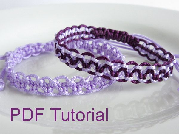 Pdf tutorial alternating square knot macrame bracelet pattern macrame jewelry fandeluxe Images
