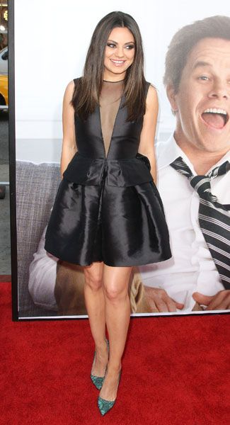 Mila Kunis Wearing A Dior Dress And Christian Louboutin Pumps At The Ted Premiere Mila Kunis Women Pretty Outfits