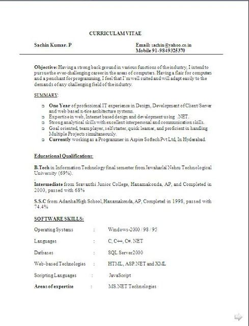 bio data templates free download sample template excellent curriculum vitae resume cv format with - Format Of A Resume