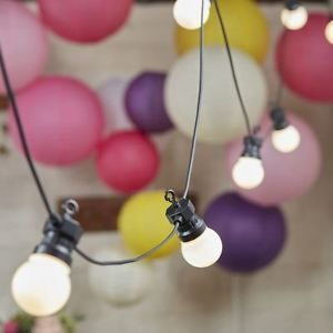 Chaine feston lampes ampoules LED 8m 10 interieur exterieur