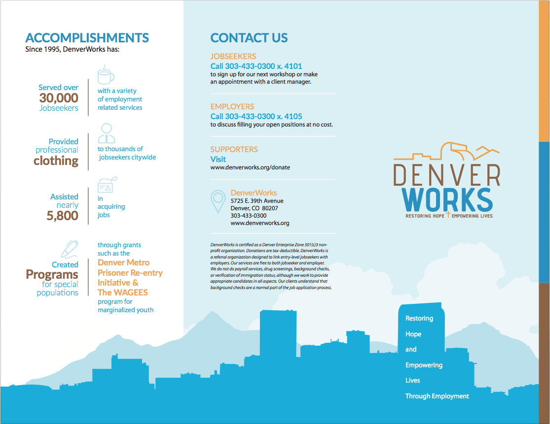 Peachy Denver Works Brochure Design By Watermark Watermark Home Interior And Landscaping Eliaenasavecom