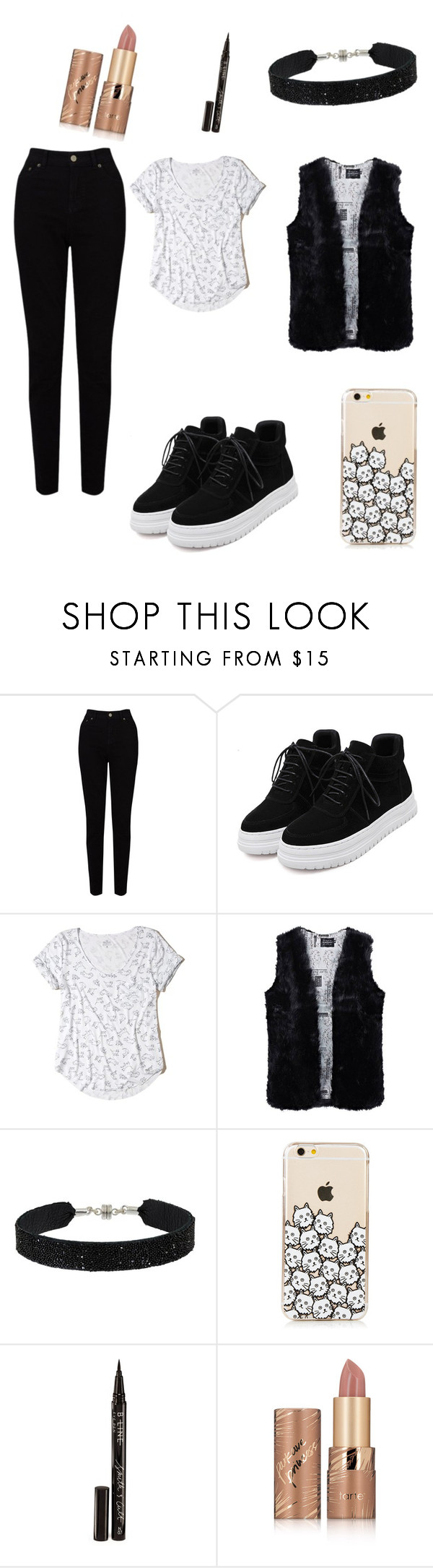 """""""на праздник"""" by alinageroeva ❤ liked on Polyvore featuring EAST, Hollister Co., She.Rise, Smith & Cult and tarte"""